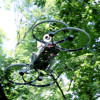 Hoverbike Drone in Forest