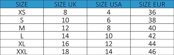 Female Size Chart