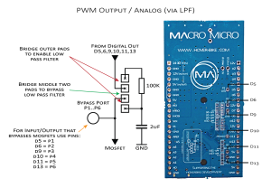 Analog output via on board low pass filters using PWM - Arduino
