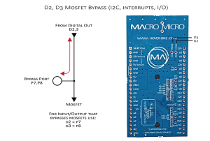 I2C and interrupt bypass for pins D2 and D3